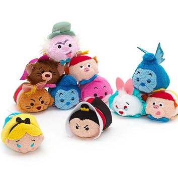 Tsum Tsum Mini Alice In Wonderland Plush Toy Cheshire Cat Mad Hatter March Hare White Rabbit Caterpillar Cute Smartphone Cleaner