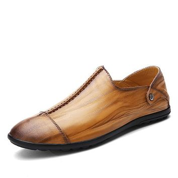 Pointed Toe Formal Slip On Oxford Shoes