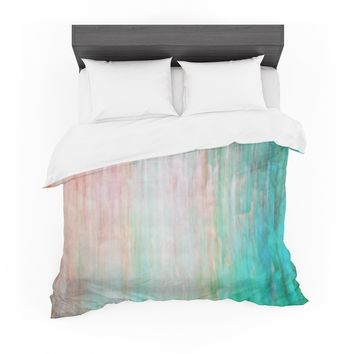 "Iris Lehnhardt ""Color Wash Teal"" Blue Turquoise Featherweight Duvet Cover"
