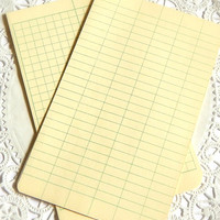 Vintage Field Notebook Paper. Note Card. Graph Paper. Ledger Paper. Planner Cards. Planner Inserts. Junk Journal Paper. Green Paper. Office.