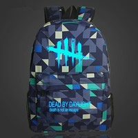 Free Shipping Luminous Game Backpack Dead By Daylight Cool School Bag For Young Man