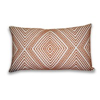 Alexa Embroidered Pillow - Burnt Orange