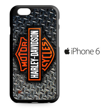 Harley Davidson Logo Diamond Plate iPhone 6 Case
