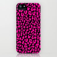 Black Pink Leopard iPhone & iPod Case by M Studio