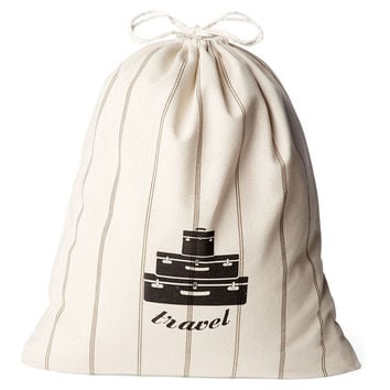 French Laundry Home, Travel Laundry Bag, Neutral Stripe, Laundry Bags