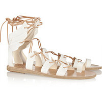 Ancient Greek Sandals Fteroti leather lace-up sandals – 30% at THE OUTNET.COM