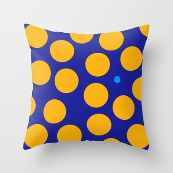 yellow dots Throw Pillow by netzauge