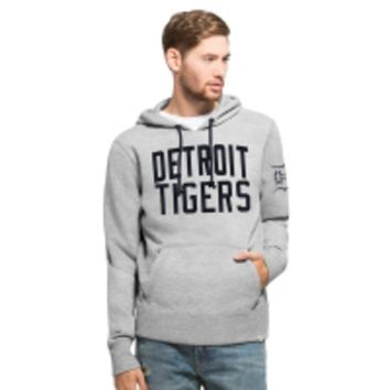 DCCKG8Q MLB Detroit Tigers 47 Brand Slate Grey Gamebreak Cross Check Pullover