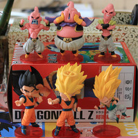 Dragon ball Z figures 6 pieces color boxset size 6-8cm