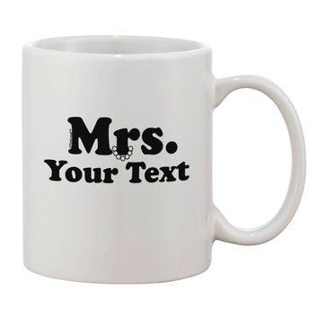 Personalized Mrs Classy Printed 11oz Coffee Mug by TooLoud