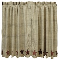 Abilene Star Tier Curtains 36""
