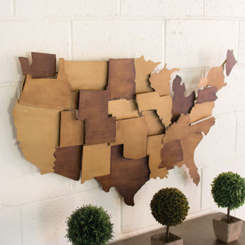 Metal USA Wall Sculpture
