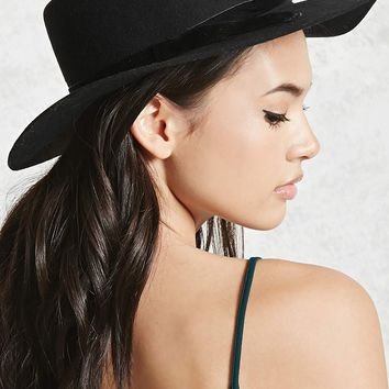 Velvet Bow Boater Hat
