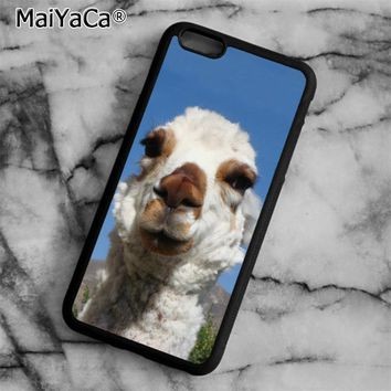 Curious Alpacas Phone Case Cover for iPhone 5 5s SE 6 6s 7 8 Plus X for samsung S5 S6 S7 edge S8 Plus Shell