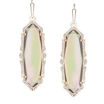 Fran Earrings in Iridescent Peach - Kendra Scott Jewelry