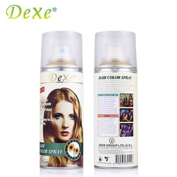 138ml Dexe Hair Color Spray Disposable Temporary Hair Dye Herbal Ingredient For Party Hallowmas Christmas