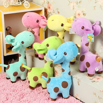 Lovely Giraffe Soft Plush Toy Animal Dear Doll Baby Kid Children Birthday Gift [9819195023]
