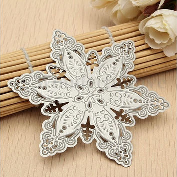 (US Warehouse)1 Pc Fashion Steel Snowflake Christmas Cutting Dies Stencils DIY Scrapbooking Album Paper Card Decor [8833418060]