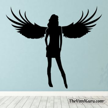 Sexy Angel Pin-Up Girl Wall Decal XVI
