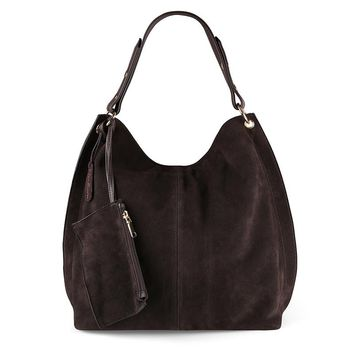 Nico Louise Women Real Split Suede Leather Hobo Bag