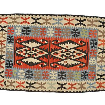 "Turkish Kilim Turkish 3' 6"" X 5' 2"" Handmade Rug"