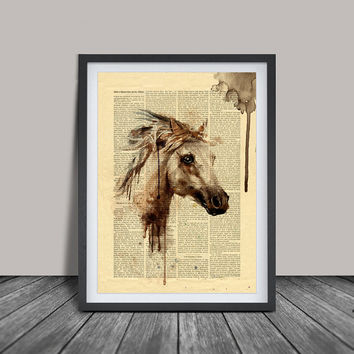 Horse Art, Horse Decor Watercolor, Horse painting Wall Art Print, Horse Print, Watercolour Horse Art PRINT (126)