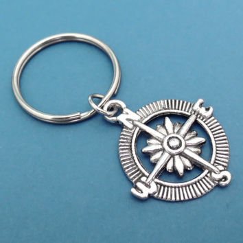 Compass, Keychain, Simple, Compass, Keyring, Key, Chain, Key, Ring, Gift, Cute, Accessory, Christmas, Gift, Jewelry
