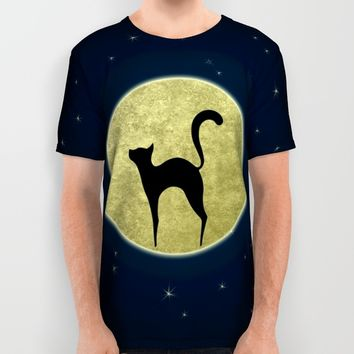 Cat silhouette All Over Print Shirt by EDrawings38