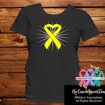 Sarcoma Awareness Heart Ribbon Shirts