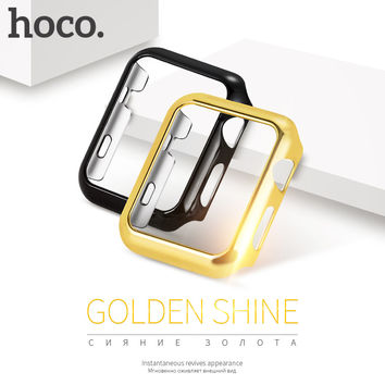 ORIGINAL HOCO PC protective Case for Apple Watch iWatch series 2 Colorful plating cover shell 38 mm 42 mm perfect match 4 color