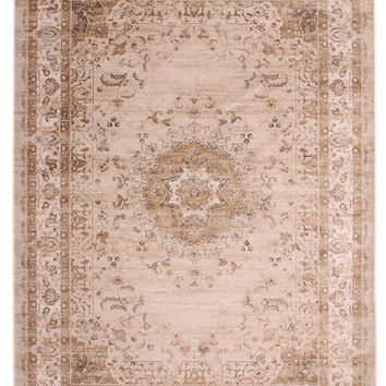 8x10 Golden Isfahan Persian Style Rug Made in Turkey