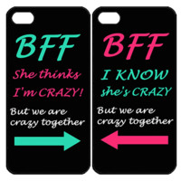 Best Friend BFF Samsung Galaxy S3 S4 S5 Note 3 4 , iPhone 4 4S 5 5s 5c 6 Plus , iPod Touch 4 5 , HTC One M7 M8 ,LG G2 G3 Couple Case