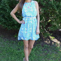 Island Getaway Dress, Blue