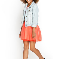 FOREVER 21 GIRLS Tulle Tutu Skirt (Girls) Blush/Coral