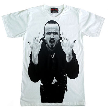 Jesse Bruce Pinkman Breaking Bad white T-Shirt Size S to XL