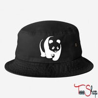panda teddy bear face cute animal save bucket hat