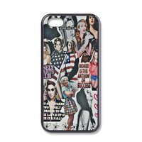 Lann del Cover Skin Case for iPhone 4 Case Black Plastic Hard and Soft Phone Case