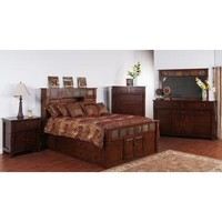 Sunny Designs Santa Fe Collection Five Piece Bedroom Set With Storage