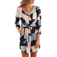 Minimalist Women Dress Casual Party Evening Cocktail Mini Dress