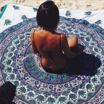 Mandala Patterned Blanket [7278892615]