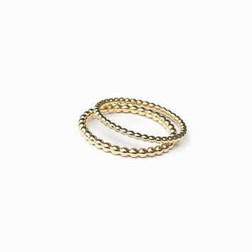 Gold Beaded Ring, 12 karat, gold filled ring, yellow gold ring, trendy ring, gold band, promise ring, for girls, under 25, daughters gift