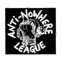 Anti Nowhere League Men's Fist Logo Cloth Patch Black