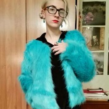 2017 New Winter Women Warm Faux Fur Coat Women Vintage Mink Fox Jacket 10 Colors Big Size S M L XL Fast Shipping