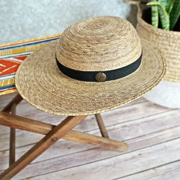 Modern Handwoven Palm + Sun Hat