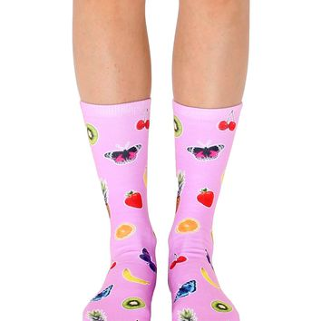 Fruits & Butterflies Crew Socks