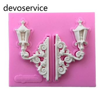 Silicone Molds Street Lamp Moulds DIY Scrapbook Mini Albums Cards Embellishments Mold For Clay Plaster Paris Silicone Caulking