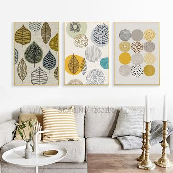 Abstract Scandinavian Geometric Nordic Poster Wall Art Canvas Painting Print Posters Cuadros Picture Modern Home Decor Unframed