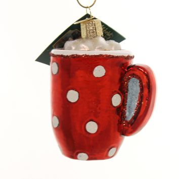 Old World Christmas Hot Cocoa Glass Ornament