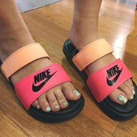 NIKE Casual Fashion Solid Color Flats Slipper Sandals Shoes2