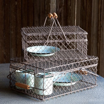 Large Wire Lunch Box Basket